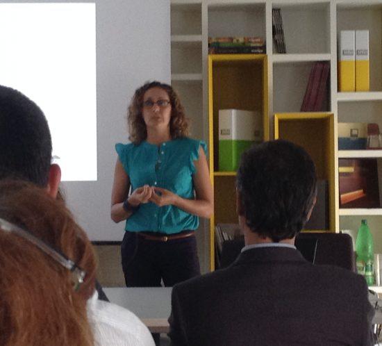 la presentazione dell'architetto Laura Scrimieri